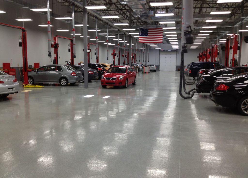 automotive workshop epoxy floor company utah